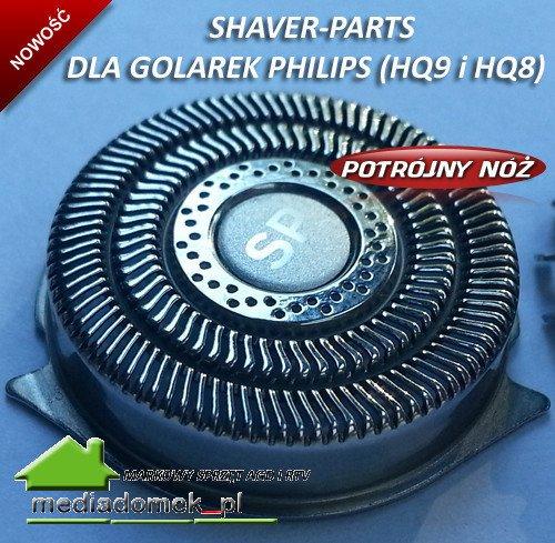 Shaver-Parts HQ9 Triple Głowice golące do golarek Philips HQ8 , HQ9 , HQ177