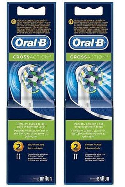 4 sztuki ORAL-B CROSS ACTION EB-50 ORGINAŁ 100%