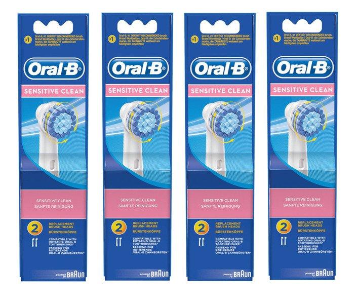 8 sztuk ORAL-B SENSITIVE CLEAN EBS17 100% ORYGINAŁ