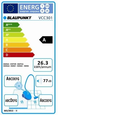 Blaupunkt VCC301 Odkurzacz bez workowy cyklon HEPA