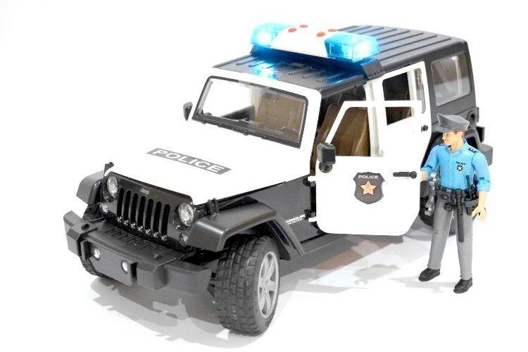 Bruder 02526 Jeep Policja z figurką światło+dźwęk