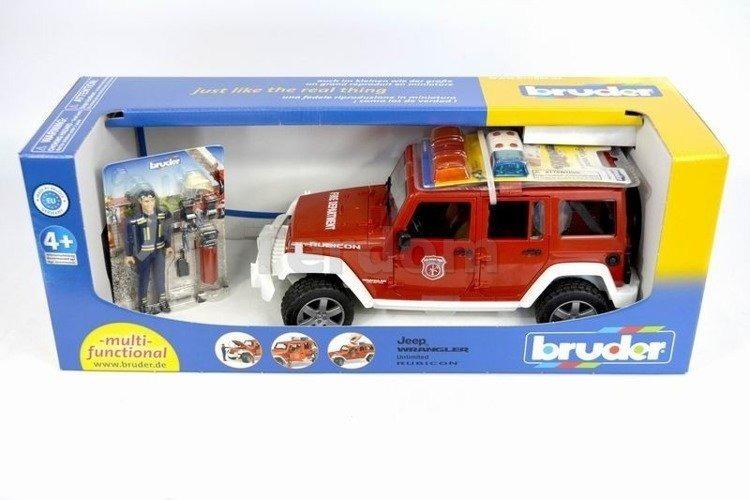 Bruder 02528 Jeep Wrangler straż pożarna+Figurka