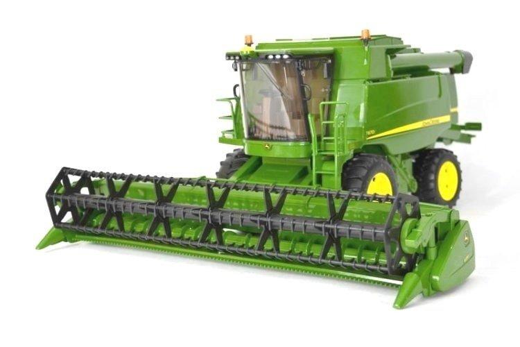 Bruder Kombajn zbożowy John Deere 02132 + Bruder 02058 Traktor z przyczepą John Deere Zestaw