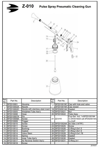 Nakrętka z wentylkiem do Z-020 Z-020S Z-010 Z-010S