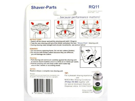 SHAVER-PARTS Głowica goląc do golarek Philips RQ11