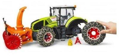BRUDER 03017 traktor Claas z pługiem śnieżnym