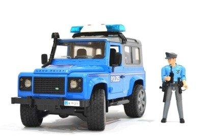 Bruder 02597 Policja dźwięk figurka Land Rover