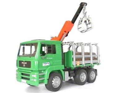 Bruder 02769 Ciężarówka do drzewa Man + 3 pnie
