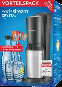 SodaStream Crystal czarny CO2 2 karafki 2 szklanki